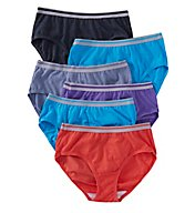 Fruit Of The Loom Heather Low Rise Brief Panties - 6 Pack 6DLRBHT