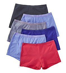 Fruit Of The Loom Cotton Shortie Panties - 6 Pack 6DSHTA1