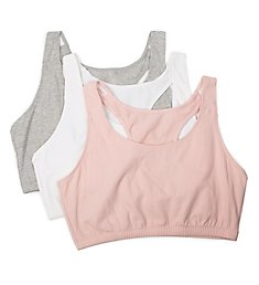 Fruit Of The Loom Racerback Tank Style Sports Bra - 3 Pack 9012R