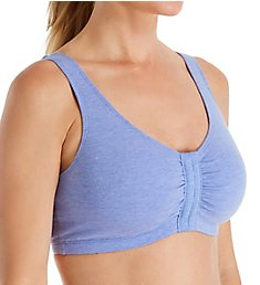 Fruit Of The Loom Comfort Cotton Blend Front Close Sports Bra 96014