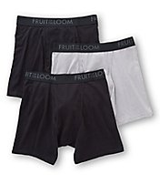 Fruit Of The Loom Breathable Black/Grey Boxer Briefs - 3 Pack BM3P76