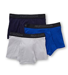 Fruit Of The Loom Breathable Assorted Short Boxer Briefs - 3 Pack BM3TK7C