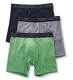 Fruit Of The Loom Breathable Lightweight Boxer Briefs - 3 Pack BW3BB7C