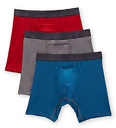 Fruit Of The Loom Everlight Go Active Assorted Boxer Briefs - 3 Pack ELM3BBC