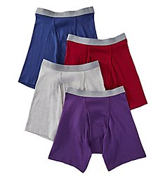 Fruit Of The Loom Premium Cotton Assorted Boxer Briefs - 4 Pack JC4BB7C
