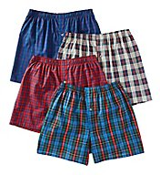 Fruit Of The Loom Premium Tartan Woven Boxers - 4 Pack JC4P590