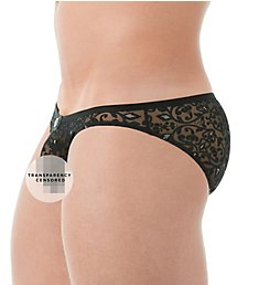 Gregg Homme Rococo All Over Floral Burnout Sheer Brief 142103