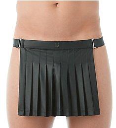 Gregg Homme Black 2.0 Faux Leather Backless Kilt 143204
