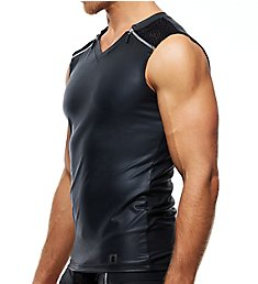 Gregg Homme DMNT Faux Leather Muscle Shirt 180722