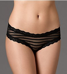 Hanky Panky After Midnight Shadow Stripe Open Hipster Panty 1H2924