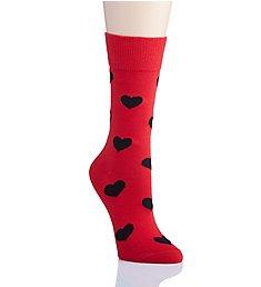 Happy Socks Heart Crew Socks HEA01
