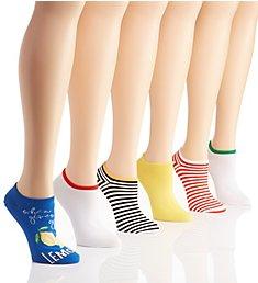 Hue Cotton Liner Socks - 6 Pack 6421