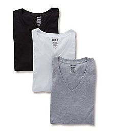 Izod 100% Cotton V Neck T-Shirt - 3 Pack 00CPT05