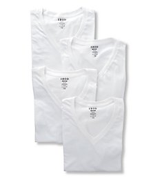 Izod 100% Cotton V-Neck T-Shirt - 4 Pack 00CPT11