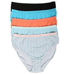 Just My Size Plus Size Cotton Hi Cut Panties - 5 Pack 1640