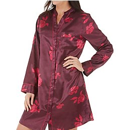 KayAnna Floral Brushed Back Satin Sleepshirt B12431