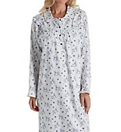 KayAnna Ashley Blue Ditsy Flannel Gown F11385