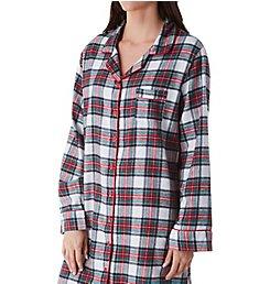KayAnna Printed Flannel Plaid Sleepshirt F12432 fcebb65d4