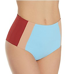 L Space Color Block Portia Girl Hi Waist Swim Bottom CBPGC20