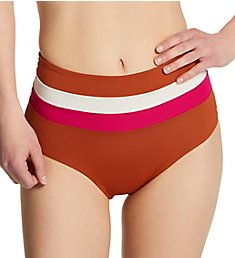 L Space Striped Portia High Waist Swim Bottom CBPSC18