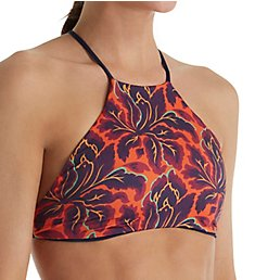 L Space Liberty Fleur Luna High Neck Swim Top LULNT17