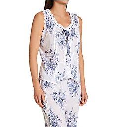 La Cera 100% Cotton Woven Sleeveless Printed Pajama Set 1487-2