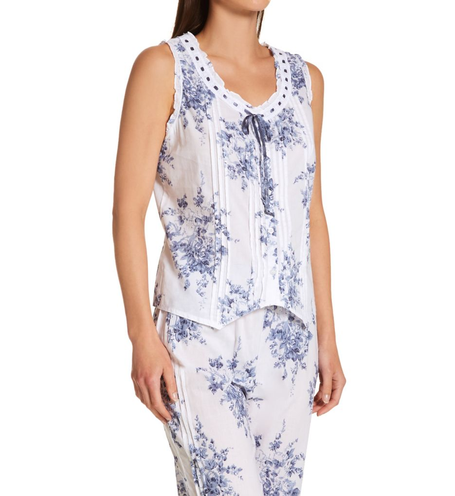 La Cera 100% Cotton Sleeveless Printed Pajama Set 1487-2