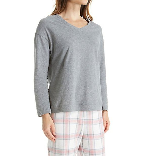La Cera Knit and Flannel PJ Set 1520-2
