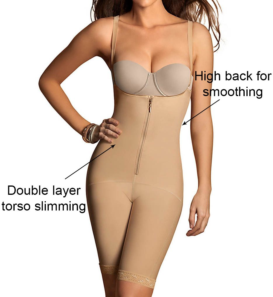 Leonisa Power Slimmed Mid-Thigh Body Shaper 18674N
