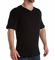 Magic Silk Silk Blend Ribbed V-Neck T-Shirt 2407