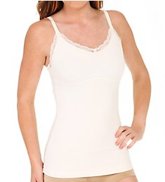 Maidenform Ready to Shape V Neck Lace Trimmed Tank 1236
