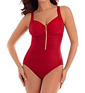Miraclesuit So Richie Zip Code Soft Cup One Piece Swimsuit 6513074