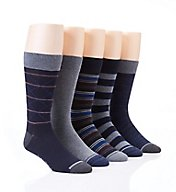 Nautica Fashion Argyle Flat Knit Dress Socks - 5 Pack 163DR04