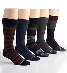 Nautica Solid and Multi Stripe Dress Socks - 5 Pack 173DR05