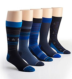 Nautica Fashion Dress Socks - 5 Pack 173DR17