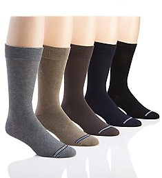 Nautica Solid Flat Knit Dress Socks - 5 Pack 183DR02