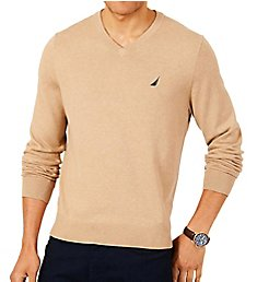 Nautica Tall Man Jersey Cotton V-Neck Sweater N83100T