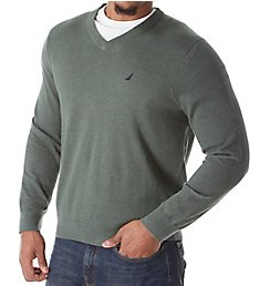 Nautica Tall Man Jersey Cotton V-Neck Sweater N83100T
