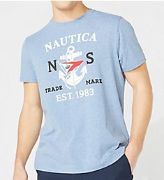 Nautica Tall Man Anchor Flag Crew Neck T-Shirt Q01105T