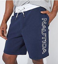Nautica Tall Man Fleece Knit Logo Short Z01170T