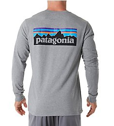 Patagonia P-6 Logo 100% Organic Cotton Long Sleeve T-Shirt 38933