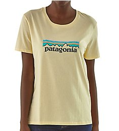Patagonia Logo Organic Cotton Crew Neck Short Sleeve T-Shirt 39576