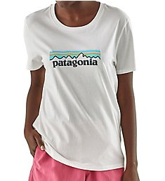 Patagonia Logo Organic Cotton Crew Neck Short Sleeve T-Shirt 39576