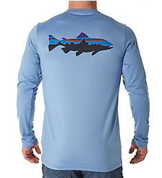 Patagonia Long Sleeve Graphic Tech Fish T-Shirt 52146