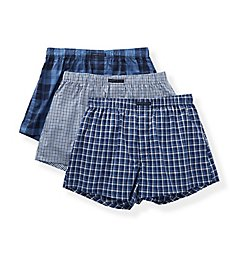 Perry Ellis 100% Pure Cotton Woven Boxers - 3 Pack 879633