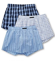 Perry Ellis 100% Cotton Woven Boxers - 3 Pack 879782