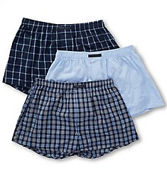 Perry Ellis 100% Cotton Woven Boxers - 3 Pack 879783
