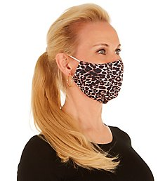 PJ Harlow Brown & Black Cheetah Print Face Mask FMG27