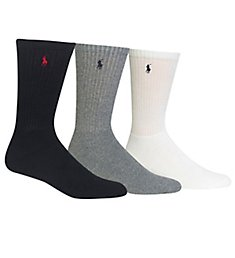 Polo Ralph Lauren Cushioned Classic Cotton Crew Golf Socks - 3 Pack 821032