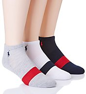 Polo Ralph Lauren Varsity Single Stripe Low Cut Socks - 3 Pack 827166PK